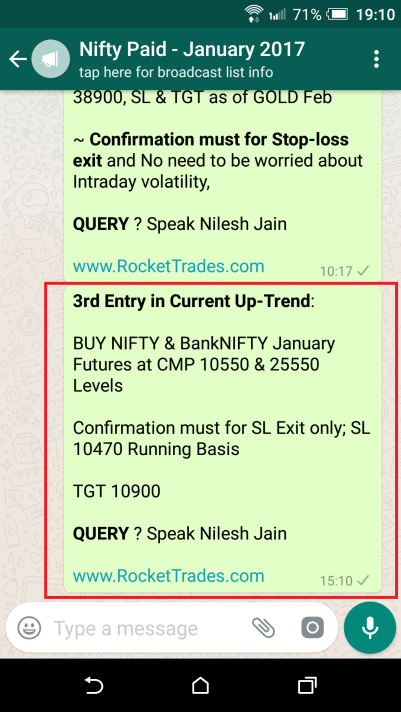 NIFTY Trade Entry on Friday
