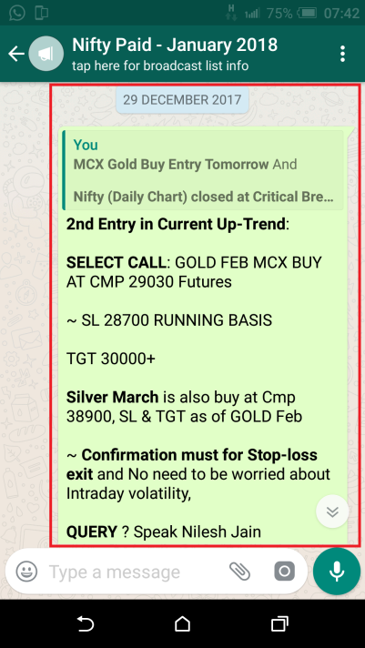 GOLD ENTRY