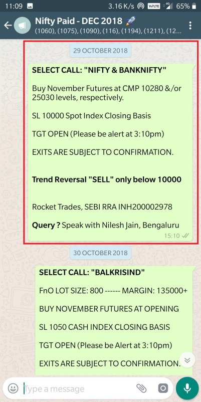 october nifty buying