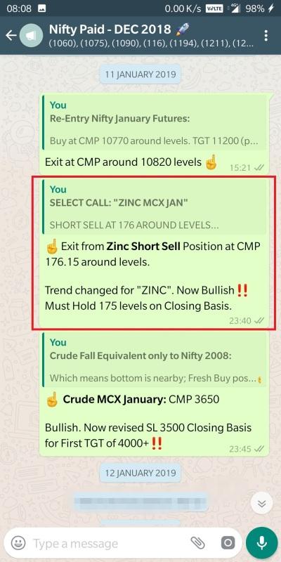 zinc 11 january