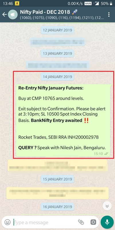 14 JAN - NIFTY ENTRY 10765