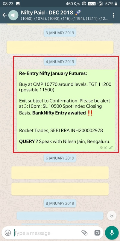 4 JANUARY - NIFTY BUY