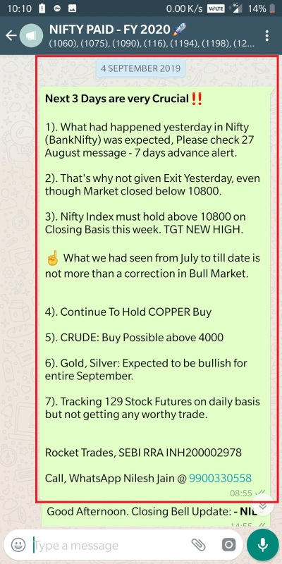 4 September - Detailed Market Commentary