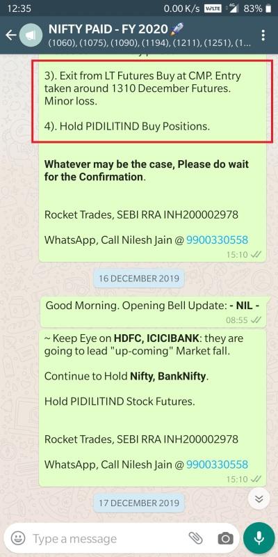 NSE STOCK FUTURES - LARSEN LT EXIT