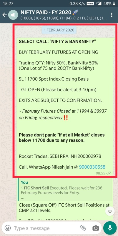 NIFTY BANKNIFTY 1ST FEBRUARY