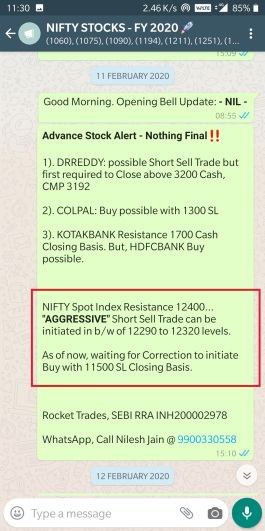 NIFTY - 11 FEB 2020