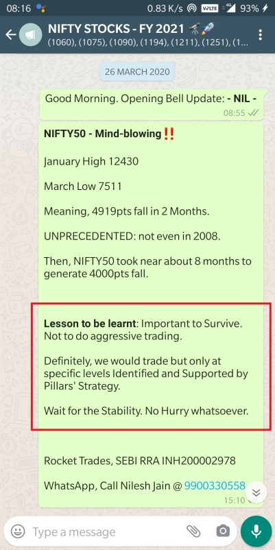 NIFTY 26 MARCH